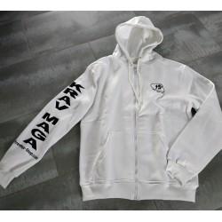 Sweat-shirt Blanc à Capuche
